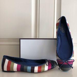 Coach Striped Ballet Shoes 71/2